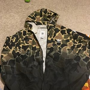 Adidas Camo Jacket Sz M